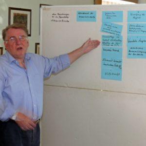 Johannes Gliem fasst die Ergebnisse des Workshops zusammen.